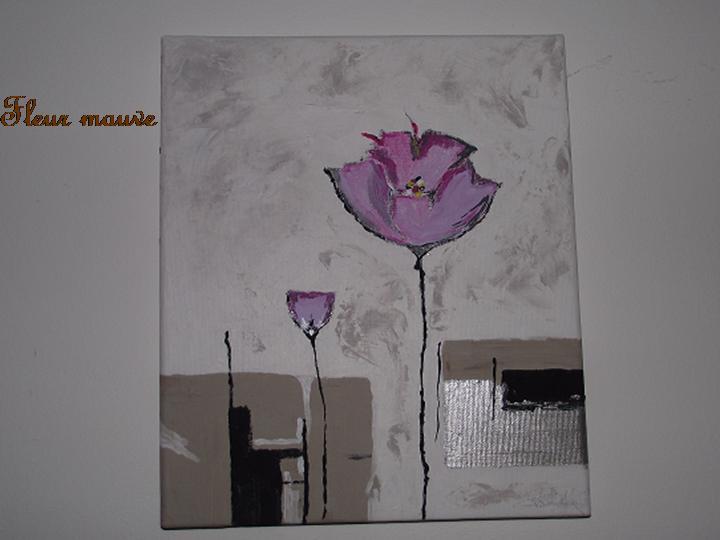 Fleur Mauve Aud Création Peinture Moderne Amateur
